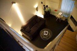 Duplex Living Room View at 1K Paris