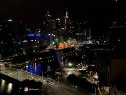 Flinders Street Station lit up for Australia Day