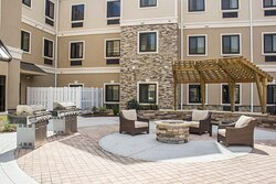 Our hotel's outdoor space allows for al fresco dining and relaxing