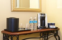 Keurig/coffee machine is available in every Guest Room.