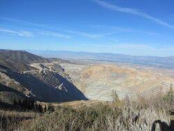 Oquirrh Mountains overlooking Kennecott Copper Mine 7 miles away