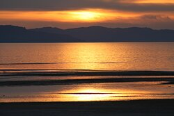Great Salt Lake Sunset 15 miles from hotel