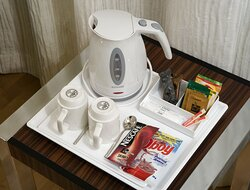 Prepare a fresh cup of coffee or tea any time a day