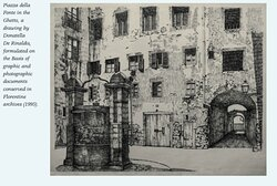 A square of the Ghetto of Florence, demolished on late 18th century