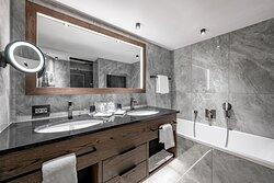 Badezimmer Doppelzimmer Spiegelkogl