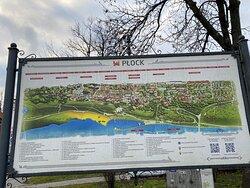 карта Плоцка с достопримечательностями