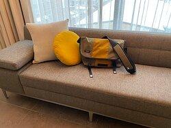 My bag matches the decor!