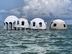 The Cape Romano dome homes!  A sight to see before the ocean sweeps them away!