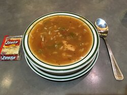 Spicy soup at Norm's.