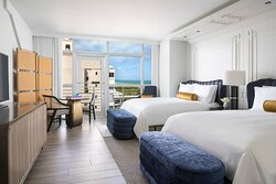 Double/Double Partial Ocean View Club Guest Room