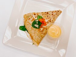 egg whites, tomato, spinach, mozzarella, hollandaise sauce