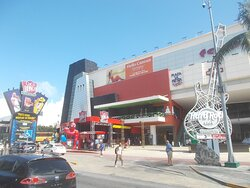 """The """"downtown or centro"""" area of the Hotel Zone (at just about a 5-minute walk """"to the left"""" from this place)"""