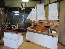 別館にある北前船の模型