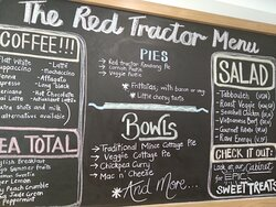 Travelling through Paeroa - The Red Tractor is your destination cafe! Lots of amazing home cooked pies, salads and traditional foods like Mac'n'Cheese, Cottage pies and pasties. Whether you are grabbing a coffee or a pie or want a sit down meal - you will find quality tasting home made fare.
