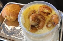 Smoked Shrimp Cheese Grits and Jalapeno Cheese Cornbread