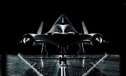 The SR71 Blackbird at the Smithsonian Air & Space Museum Udvar Ctr