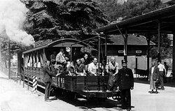 Historic Steam Train - Station of Capolago