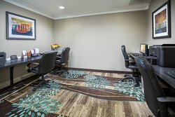 Business Center at hotel near Plant Vogtle