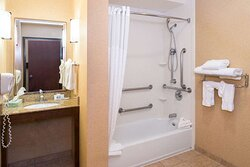 Accessible bathroom in suite