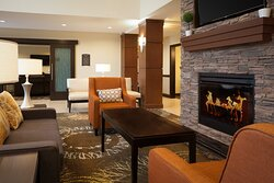 Great Room: Relax with a fresh Hot meal and your drink of choice