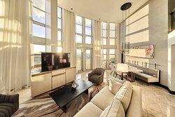 Suite Presidential City Skyline View Living Room 2