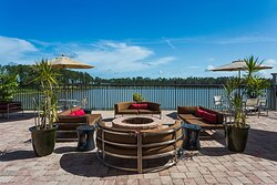 Relax by a warm fire on our Oasis Patio