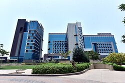 Facade of Crowne Plaza Greater Noida