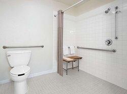 Motel San Diego CA Downtown Bathroom ADA RI Shower