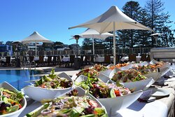 Buffet by the Pool