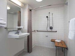Motel Oceanside bathroom ADA shower