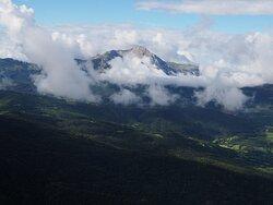 Pico Turbón desde el despegue