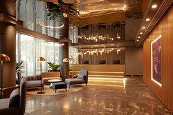 adina apartment hotel west melbourne lobby