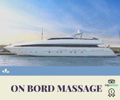 Ofrezco el servicio de masaje en su barco, para días o semanas. Todo el material necesario.  I offer the massage service onboard,  for days or weeks. All the necessary material.
