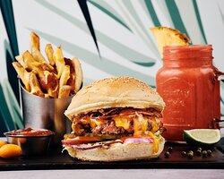 Burger+ accompagnement + un juice