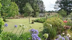 Looking across the garden to the Wset