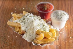 German Fries with your choice of toppings!