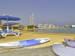 Beach of The Boutique Hotel Hurghada Marina.