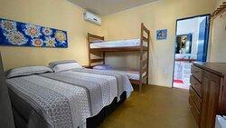 quartos arejados e com ar condicionado