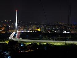 Lights in the night. (bridge of the Archistar Calatrava, in Cosenza)💎Luci nella notte, ponte dell'Archistar Calatrava, in Cosenza).