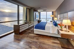 Indulge in gorgeous waterfront Bocagrande views from the room.