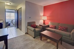 Relax on the sofa and stretch out your legs in one of our suites.