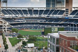Enjoy a San Diego Padre game from our Level 9 Rooftop Bar