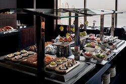 InterContinental Club Lounge Dining overlooking Dubai Creek