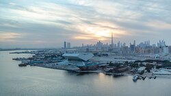 A beautiful sight of Dubai's skyline during the golden hour
