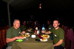 Dinner at Serengeti luxury camp