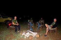 Bushfire at Serengeti Luxury Camp