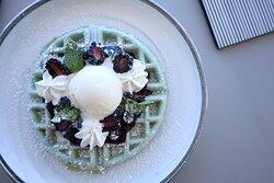 Blueberry & Ice Cream Waffles