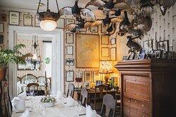 Dinner room at manor restaurant.
