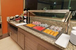 Cold bar in breakfast area