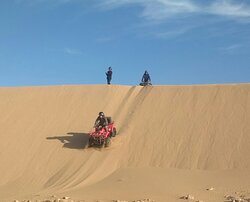 descente dans les dunes
